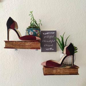 Zara 💜 Suede Leather Colorblock Pointed Toe Heels